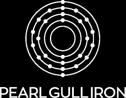 Pearl Gull Iron Logo White